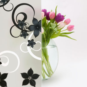 Designed Frosted Film (color floral)