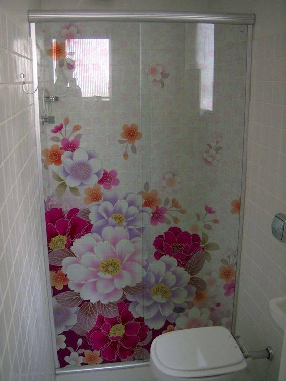 decorative glass film for bathroom