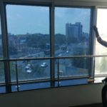Heat reduction and UV protection glass film window tinting