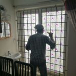 Patterned window film for Glass