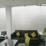 glass panel frosted sticker