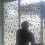 Decorative glass privacy film