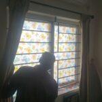 Decorative glass film for windows