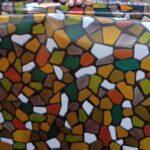 stone design pattern glass film